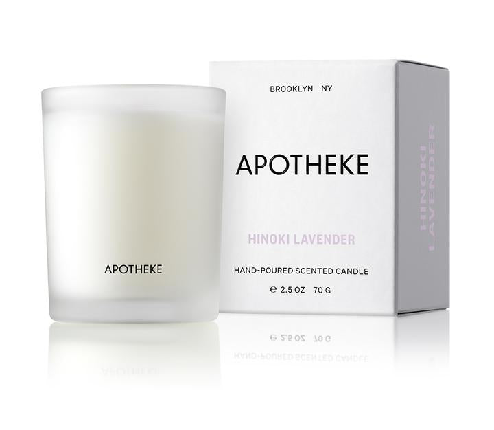 Hinoki Lavender Votive Candle design by Apotheke