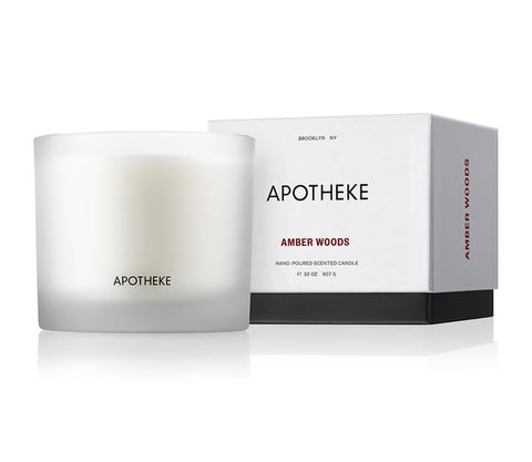 Amber Woods 3-Wick Candle design by Apotheke