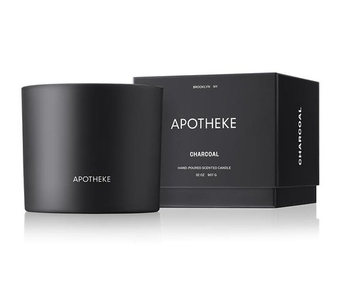 Charcoal 3-Wick Candle design by Apotheke