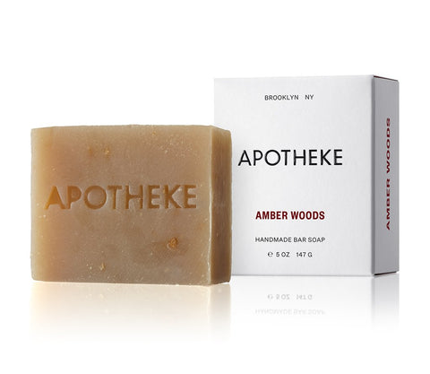 Amber Woods Bar Soap design by Apotheke