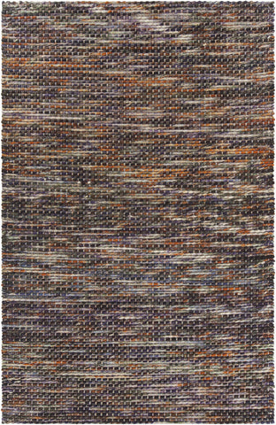 Argos Collection Hand-Woven Area Rug in Orange & Multi Color