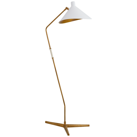 Mayotte Large Offset Floor Lamp by AERIN