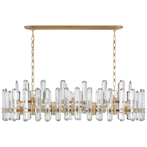 Bonnington Large Linear Chandelier by AERIN