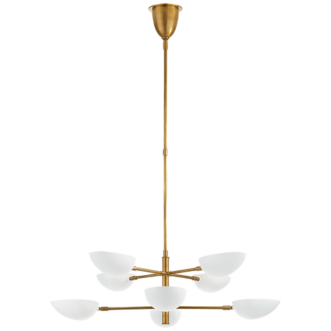 Graphic Large Two-Tier Chandelier by AERIN