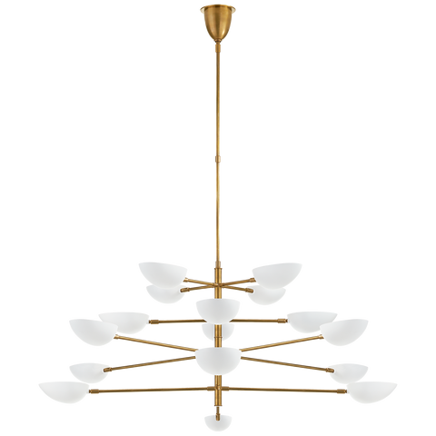 Graphic Grande Four-Tier Chandelier by AERIN