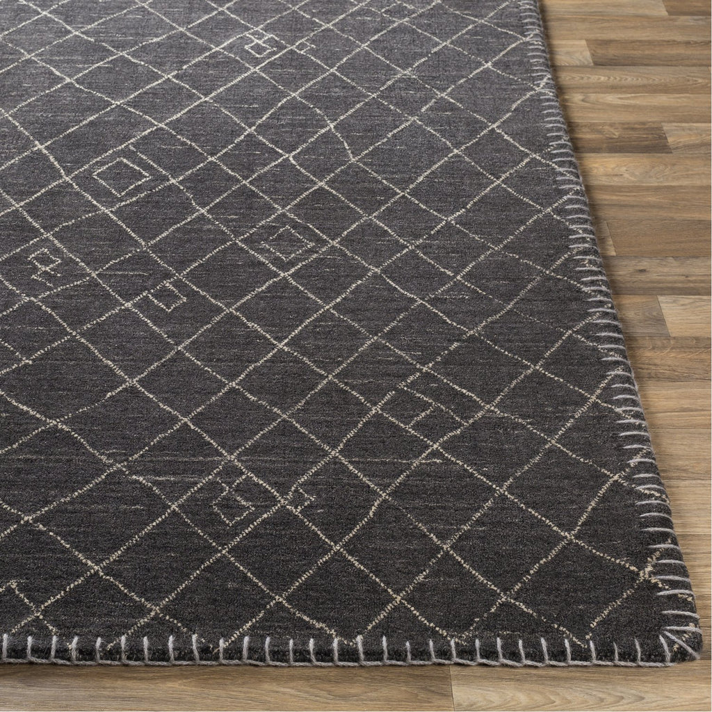 Arlequin ARQ-2301 Hand Knotted Rug in Black & Cream by Surya