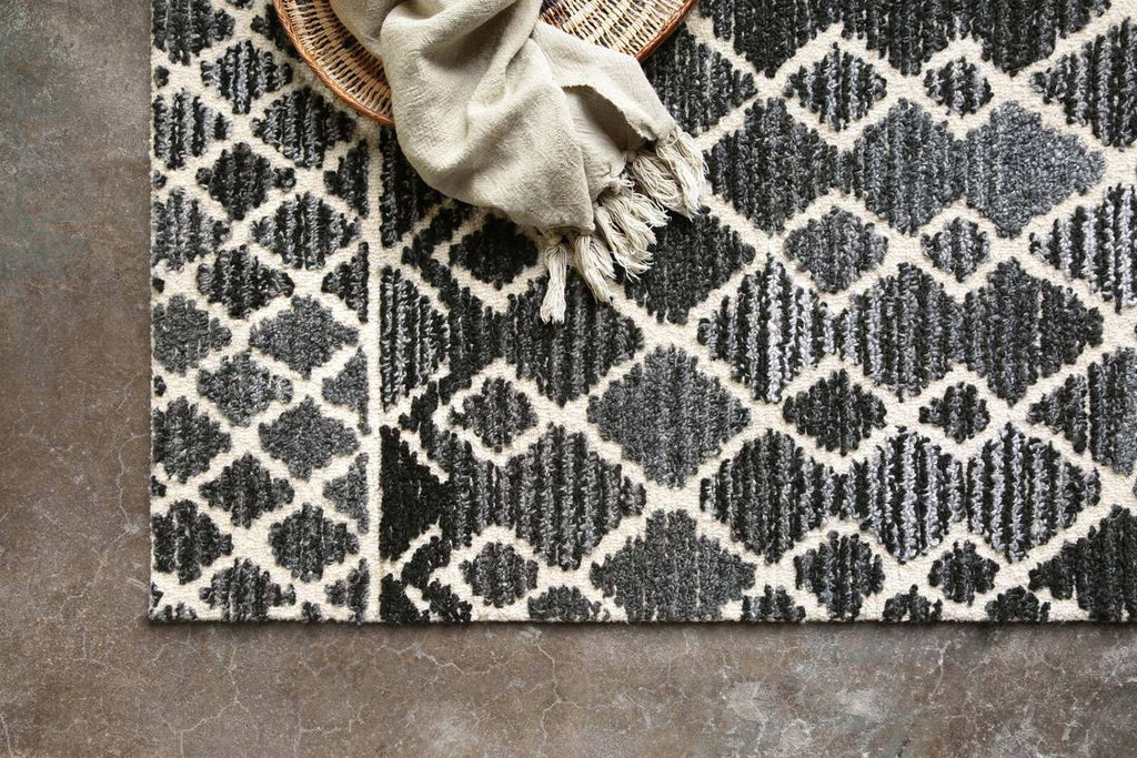 Artesia Rug in Charcoal & Ivory by ED Ellen DeGeneres Crafted by Loloi
