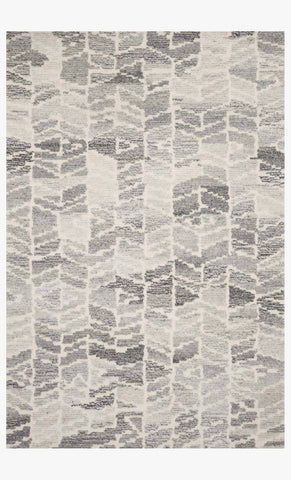 Artesia Rug in Silver & Ivory design by Ellen DeGeneres for Loloi