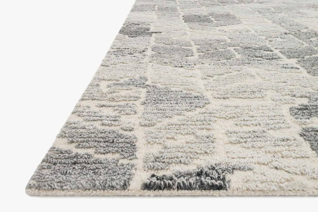 Artesia Rug in Silver & Ivory by ED Ellen DeGeneres Crafted by Loloi