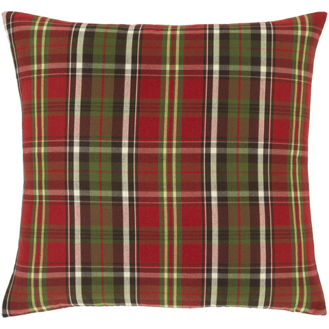Allison ASI-001 Woven Pillow in Cherry & Grass Green by Surya
