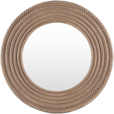 Aishwarya ASY-001 Round Mirror in Brown by Surya