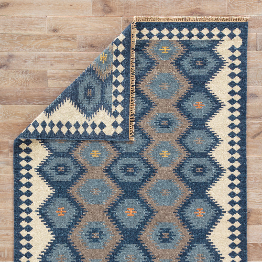 Zebulon Geometric Rug in Patriot Blue & Atmosphere design by Jaipur Living