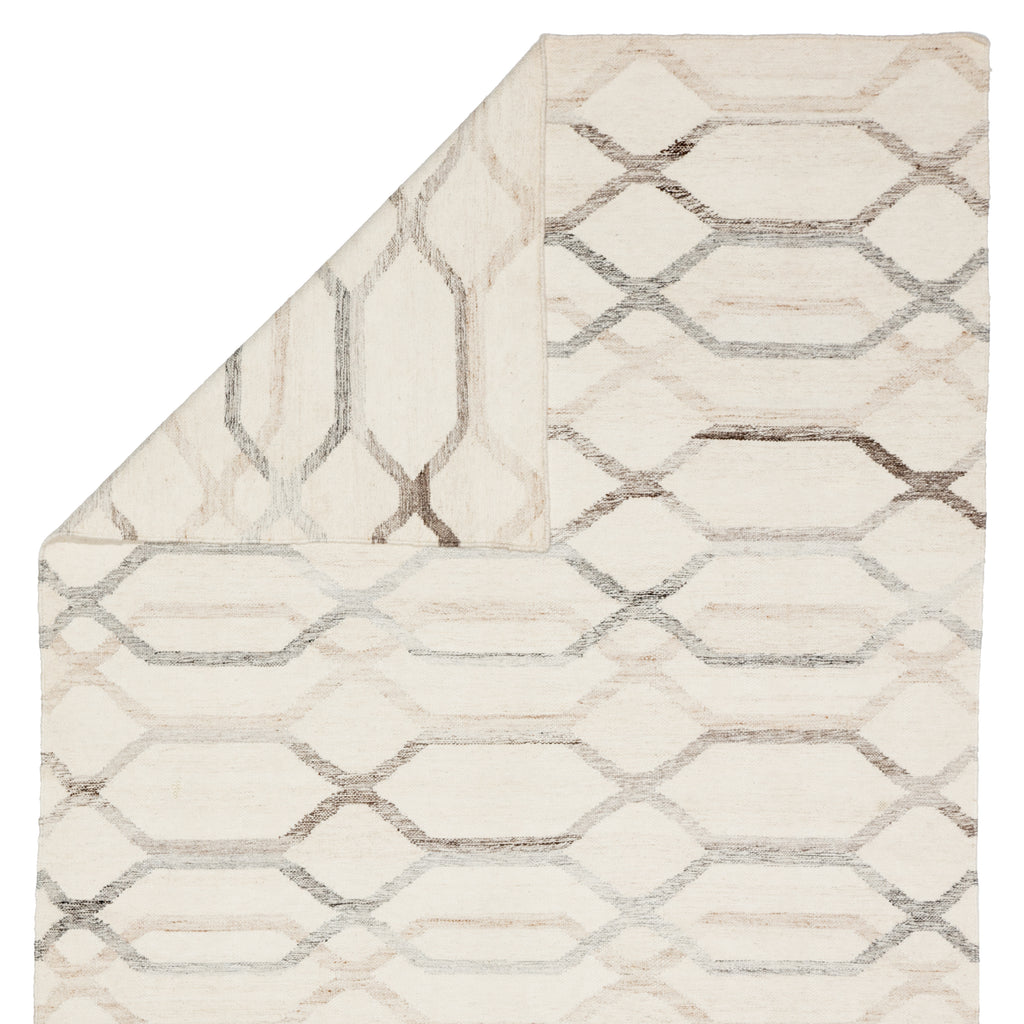 Laveer Handmade Trellis Ivory & Light Gray Area Rug