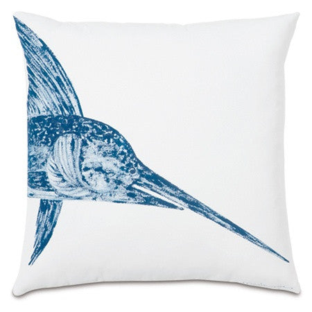Swordfish Head Hand-Painted Designer Pillow design by Studio 773