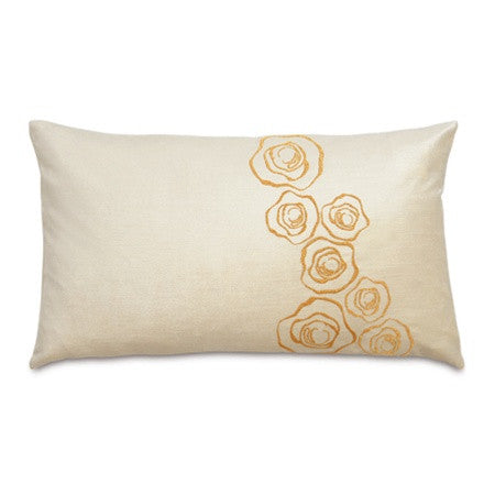 Golden Flourish Designer Pillow design by Studio 773