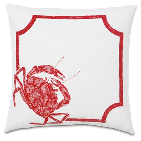 Crab Walk Hand-Painted Designer Pillow design by Studio 773