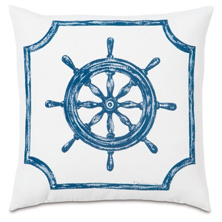 Captain's Compass Hand-Painted Designer Pillow design by Studio 773