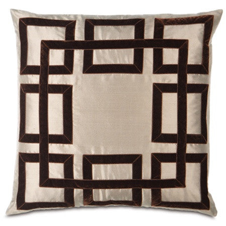 Taupe Designer Pillow design by Studio 773