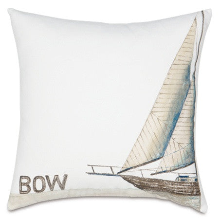 Ship Bow Hand-Painted Designer Pillow design by Studio 773