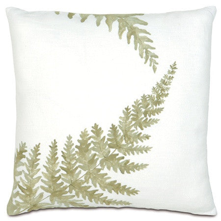 Fern Sprigs Hand-Painted Designer Pillow design by Studio 773