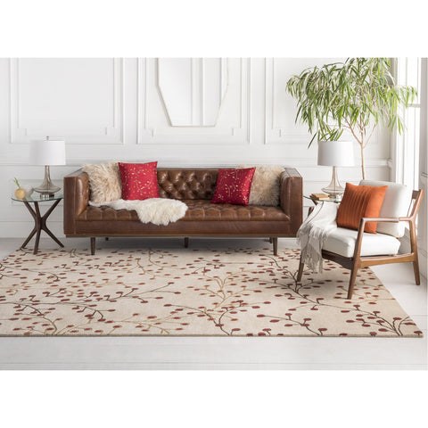 Athena ATH-5053 Hand Tufted Rug in Burgundy & Camel by Surya