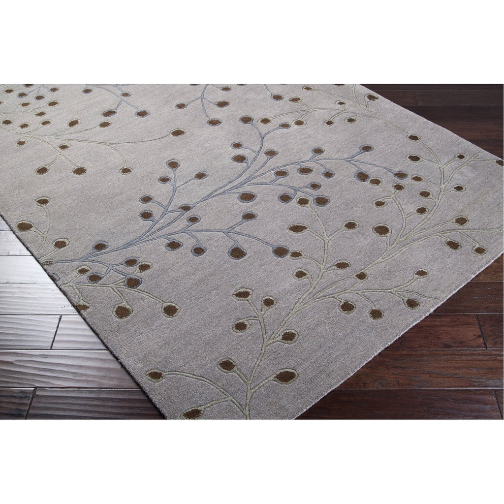 Athena ATH-5055 Hand Tufted Rug in Medium Gray & Dark Brown by Surya