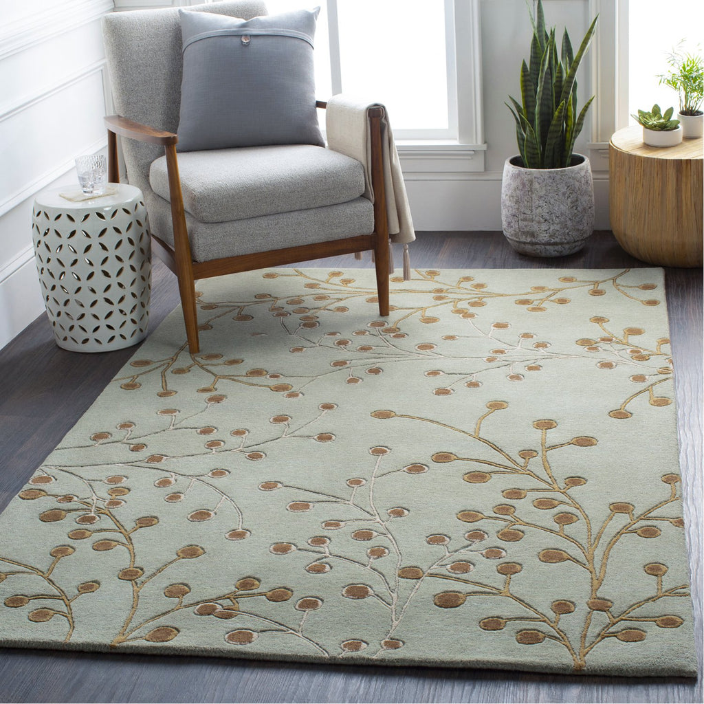 Athena ATH-5058 Hand Tufted Rug in Sea Foam & Taupe by Surya