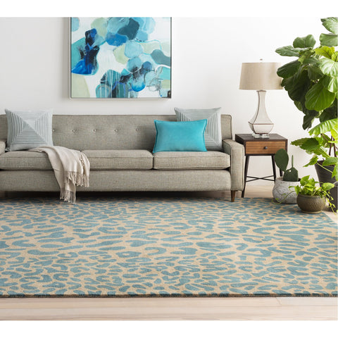 Athena ATH-5120 Hand Tufted Rug in Dark Green & Camel by Surya