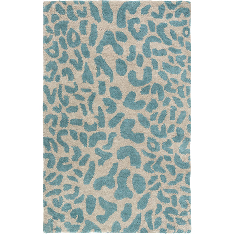 Athena Rug in Teal & Olive