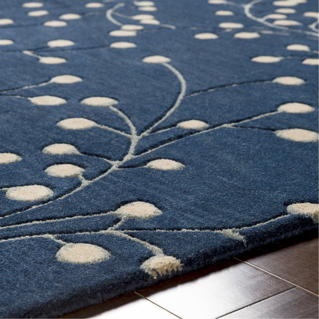 Athena ATH-5156 Hand Tufted Rug in Navy & Khaki by Surya