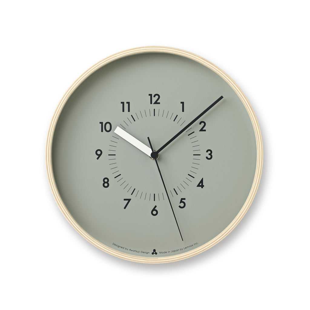 SOSO Clock in Grey design by Lemnos
