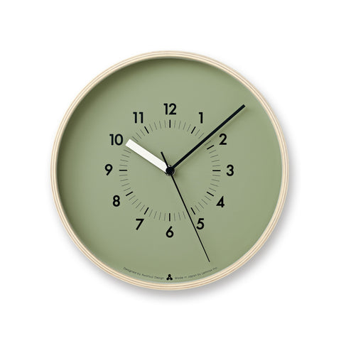 SOSO Clock in Green design by Lemnos