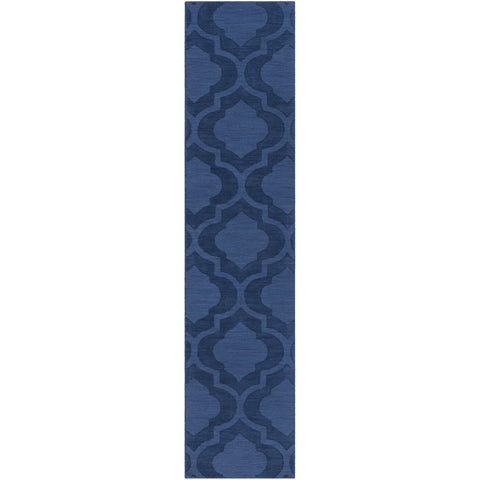 Central Park AWHP-4008 Hand Loomed Rug in Dark Blue by Surya