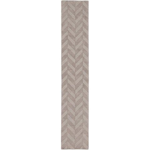 Central Park AWHP-4025 Hand Loomed Rug in Taupe & Mauve by Surya