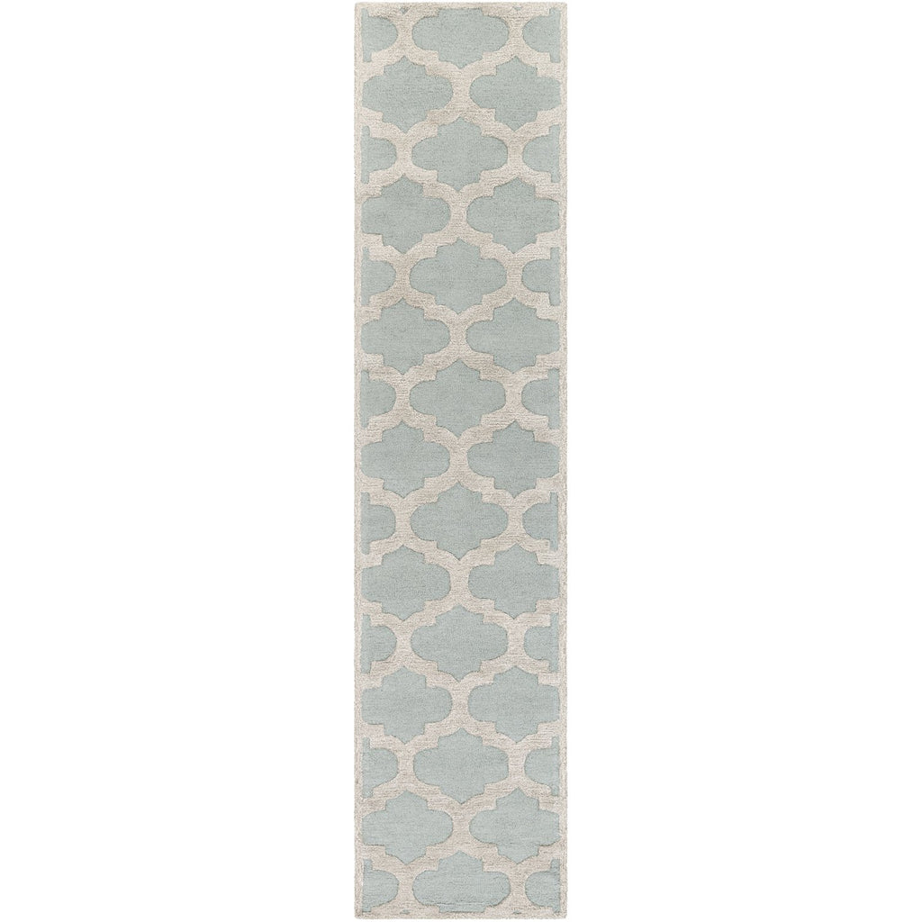 Arise AWRS-2122 Hand Tufted Rug in Mint & Beige by Surya