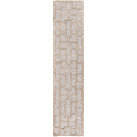 Arise AWRS-2141 Hand Tufted Rug in Light Gray & Khaki by Surya
