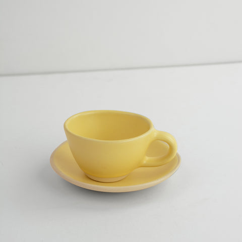 Organic Espresso Cup in Patty Pan design by Dassie Artisan