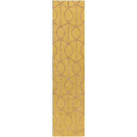Urban AWUB-2164 Hand Tufted Rug in Mustard & Camel by Surya