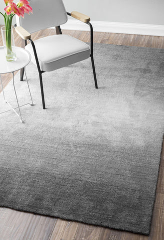 Hand Tufted Ombre Bernetta Rug in Grey design by NuLoom