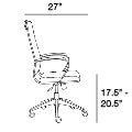 Axel High Back Office Chair in White design by Euro Style