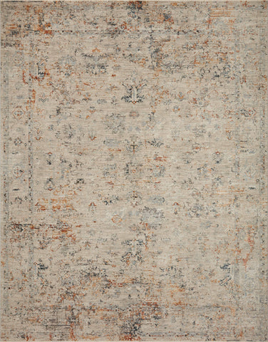 Axel Rug in Silver / Spice by Loloi