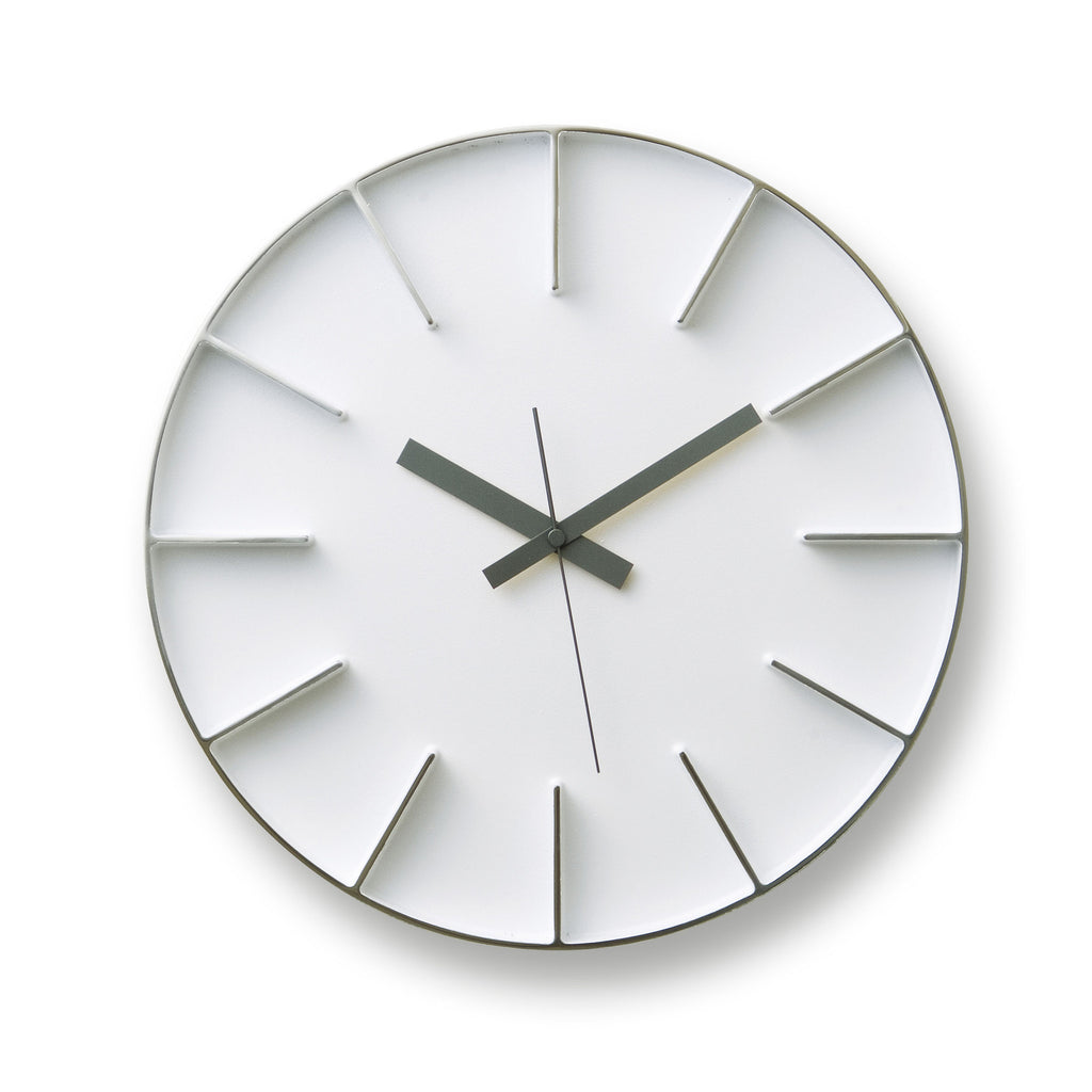 Edge Clock in White design by Lemnos