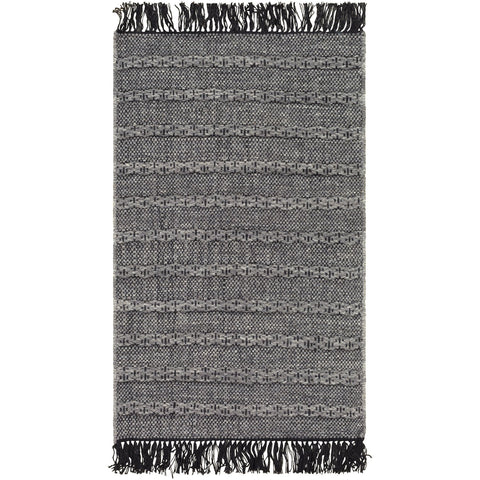 Azalea AZA-2311 Hand Woven Rug in Medium Gray & Black by Surya