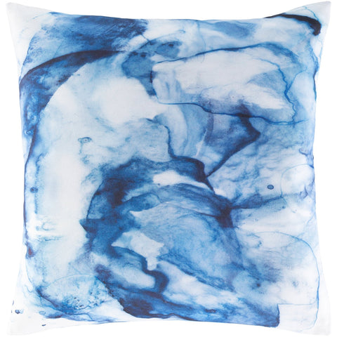 Azora AZO-002 Woven Square Pillow in Sky Blue & White by Surya