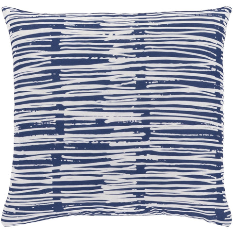 Azora AZO-003 Woven Square Pillow in Pale Blue & White by Surya