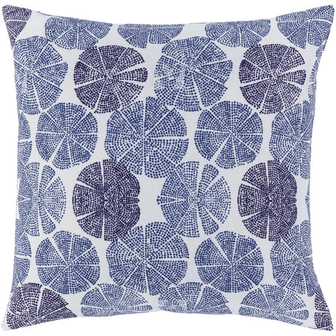 Azora AZO-006 Woven Square Pillow in Navy & White by Surya