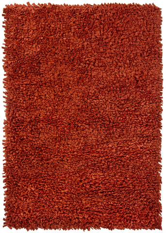 Azzura Collection Hand-Woven Area Rug in Rust design by Chandra rugs