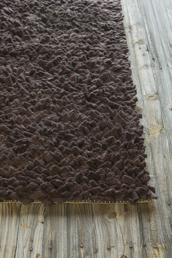 Azzura Collection Hand-Woven Area Rug in Dark Brown design by Chandra rugs
