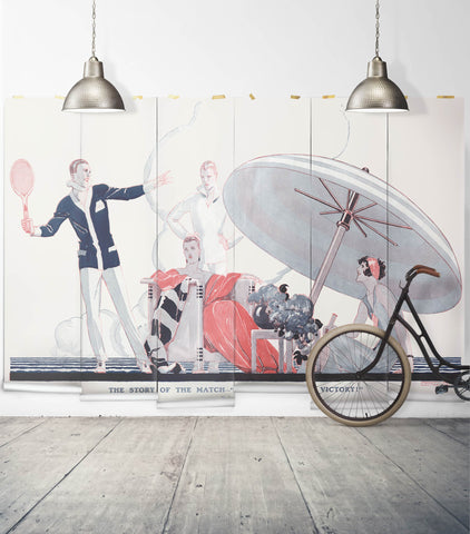 A Famous Victory Wall Mural from the Erstwhile Collection by Milton & King - BURKE DECOR