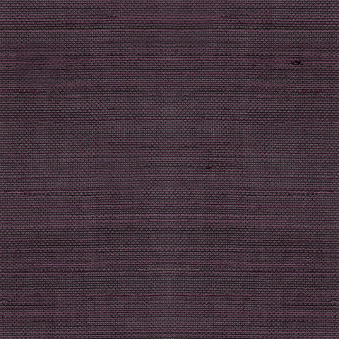 Sample Abaca Grasscloth Wallpaper in Deep Plum from the Luxe Retreat Collection by Seabrook Wallcoverings